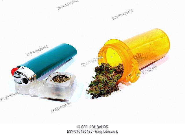 Medical Marijuana with Pipe