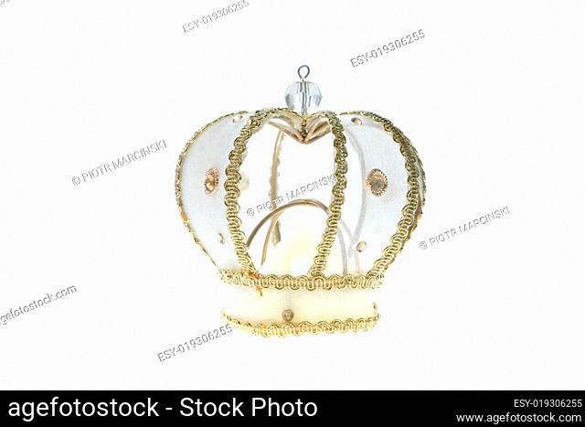 Golden crown with clipping path