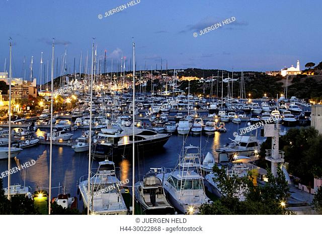 Italy Sardinia Costa Smeralda Porto Cervo Yachting Port , Marina