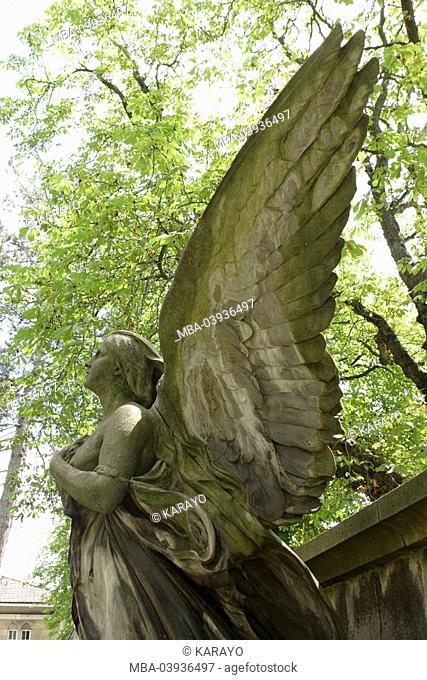 grave yard, grave, statue, angels, lateral