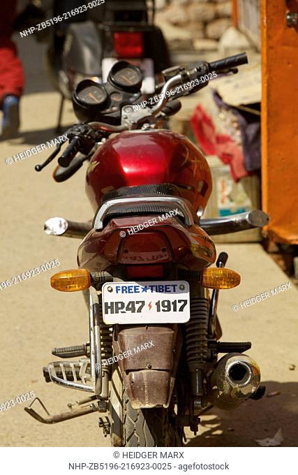 Free Tibet License Plate in McLeod Ganj