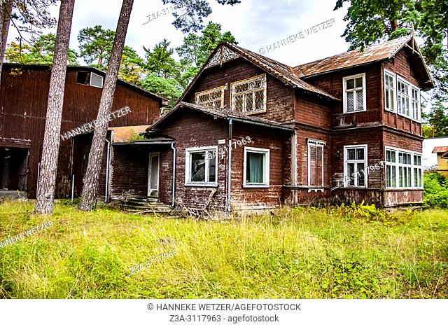 Wooden house in Jurmala, Latvia, Europe