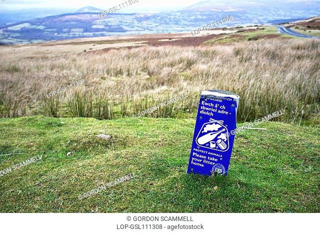 Wales, Blaenau Gwent, Llangynidr Moors. A view across Llangynidr Moors