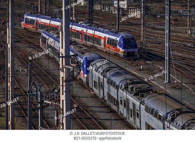 """France, Nouvelle Aquitaine, Gironde, """"""""Gare Saint Jean"""""""" railway station at Bordeaux"""