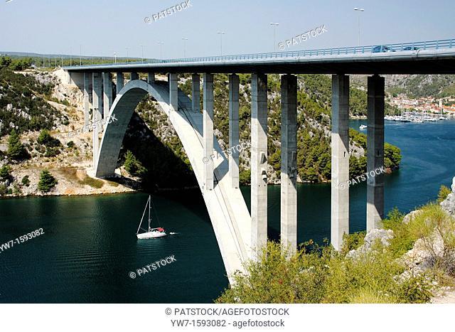 Krka bridge 388 metres long, Croatia