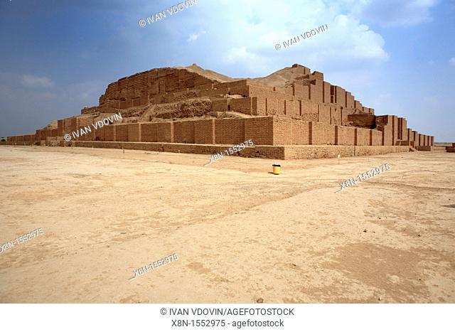 Elamite ziqqurat 13th century BC, UNESCO World Heritage Site, Chogha Zanbil Tchogha Zanbil, province Khuzestan, Iran