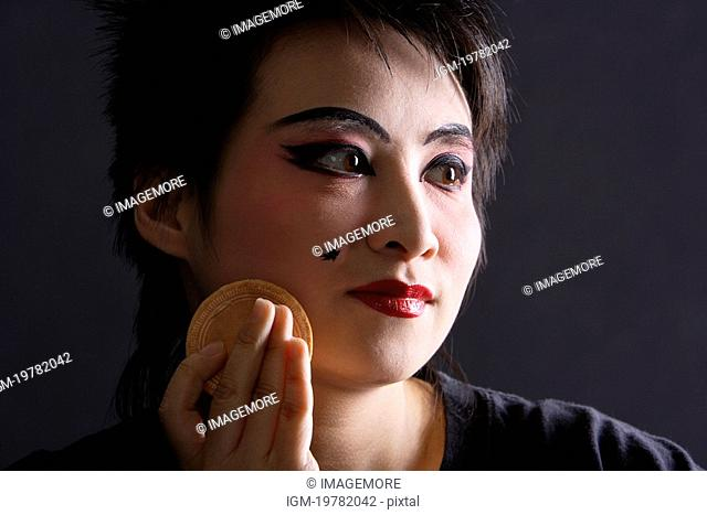 Chinese traditional opera character making-up