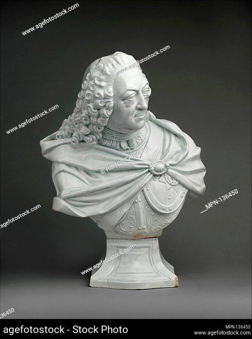 King George II (1683-1727, reigned 1727-60). Manufactory: Vauxhall (British); Date: ca. 1760; Culture: British, probably Vauxhall; Medium: Soft-paste porcelain;...
