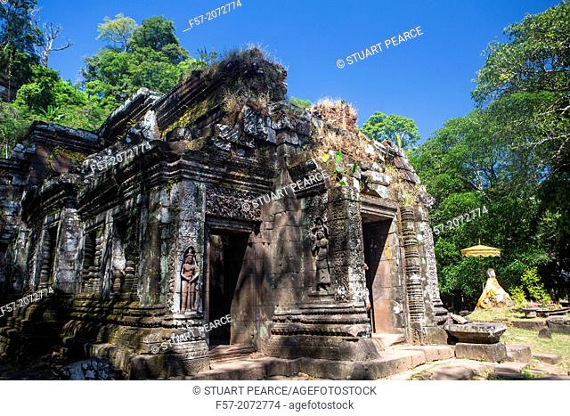 Ancient Khmer ruins in Champasak, Laos