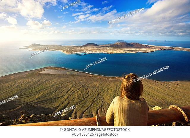 El Mirador del Rio, one of the arquitectonic creations of Cesar Manrique  From here, we can contemplate the Chinijo Archipelago Nature Rerserve