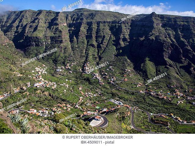 Upper Valley, Valle Gran Rey, La Gomera, Canary Islands, Spain