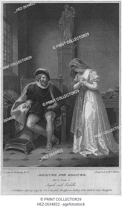 'Measure for Measure. Act 2. Scene 4. Angelo and Isabella', 1797. Artist: WC Wilson