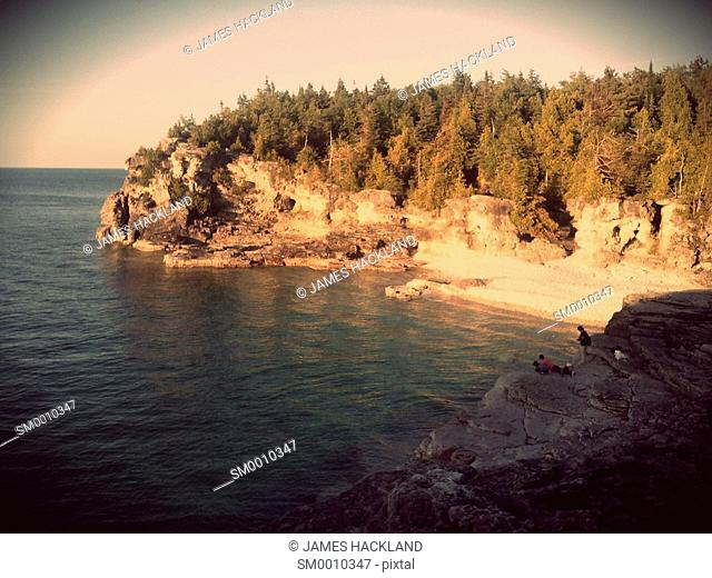 A view of Indian Head Cove in Bruce Peninsula National Park, Ontario, Canada