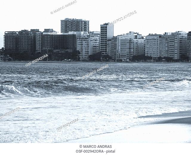 rio de janeiro rj beach view of the waves