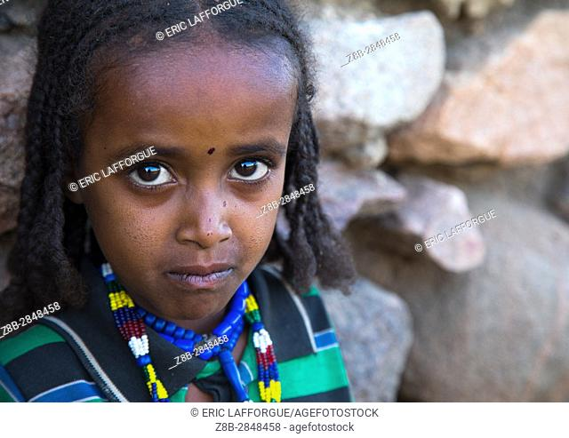 Portrait of an Argoba tribe girl, Harari Region, Koremi, Ethiopia