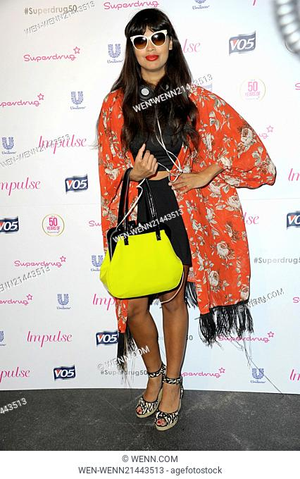 Superdrug - 50th birthday party held at the Bankside Vault - Arrivals Featuring: Jameela Jamil Where: London, United Kingdom When: 10 Jun 2014 Credit: WENN