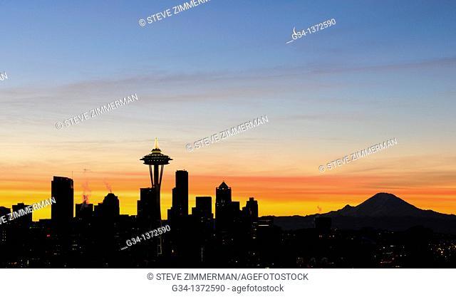 Seattle Skyline at Dawn 1