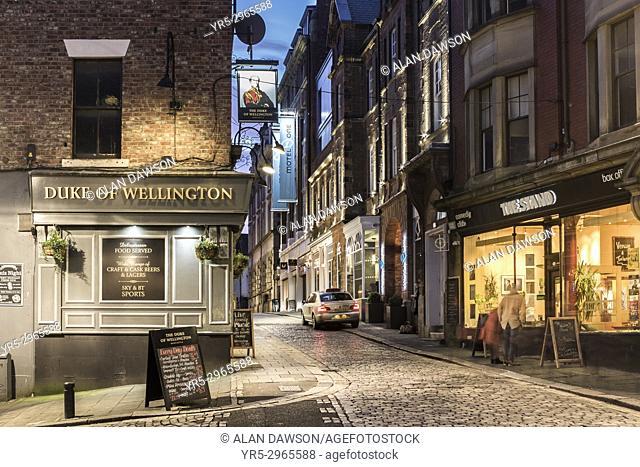 Duke of Wellington pub, High Bridge Quarter, city centre, Newcastle upon Tyne, England. UK