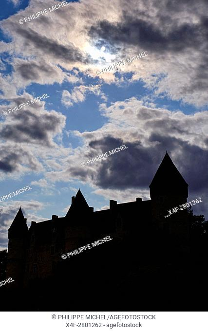 France, Cher (18), Berry, Chateau de Culan castle, the Jacques Coeur road
