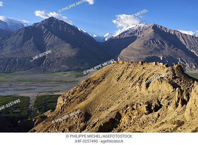 Tadjikistan, Asie centrale, Gorno Badakhshan, Haut Badakhshan, le Pamir, la forteresse de Yamtchun dans la vallée du Wakhan