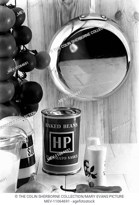 Advertisement for HP Baked Beans