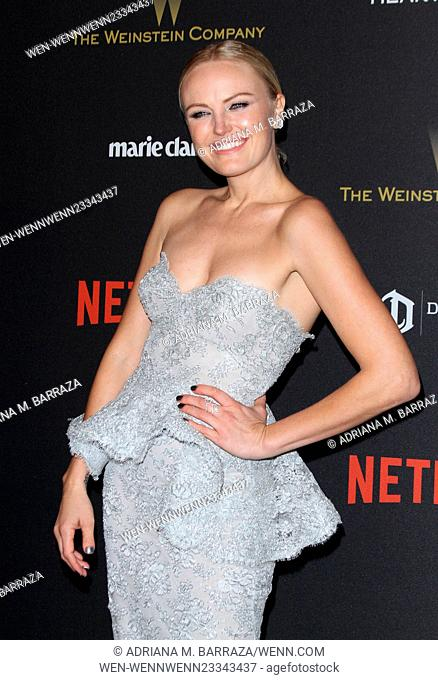 The Weinstein Company & Netflix 2016 Golden Globe after party held at the Beverly Hilton Hotel - Arrivals Featuring: Malin Akerman Where: Los Angeles