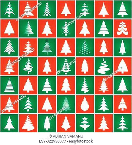 Christmas tree concept silhouette design