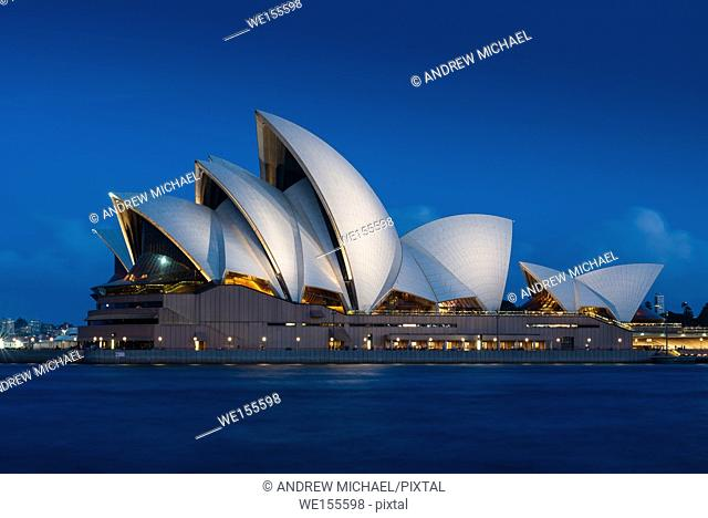 Sydney Opera House after dark. NSW. Australia