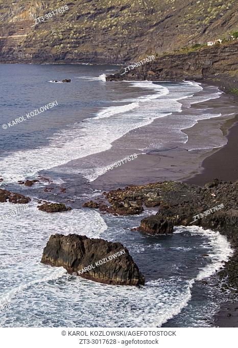 Pato Beach, Puerto de la Cruz, Tenerife Island, Canary Islands, Spain