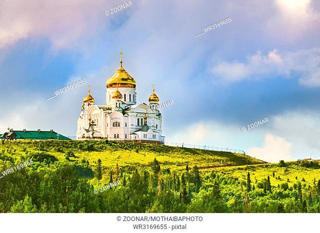 Belogorsky Monastery in Perm Krai, Russia