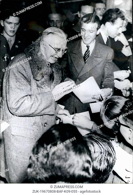 Aug. 08, 1967 - Pictured is Dr. Hjalmar Schacht in 1946 after his acquittal at the Nuremberg trials. February 1917: Armed Deserters