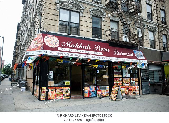 Makkah Pizza in Harlem in New York The pizzeria caters to the Muslim community in the area and proudly proclaims 'No Ham On My Pan' on its advertising
