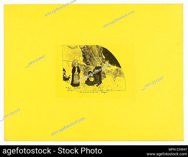 Les drames de la mer: Bretagne (Dramas of the Sea: Brittany), from the Volpini Suite - 1889 - Paul Gauguin French, 1848-1903 - Artist: Paul Gauguin