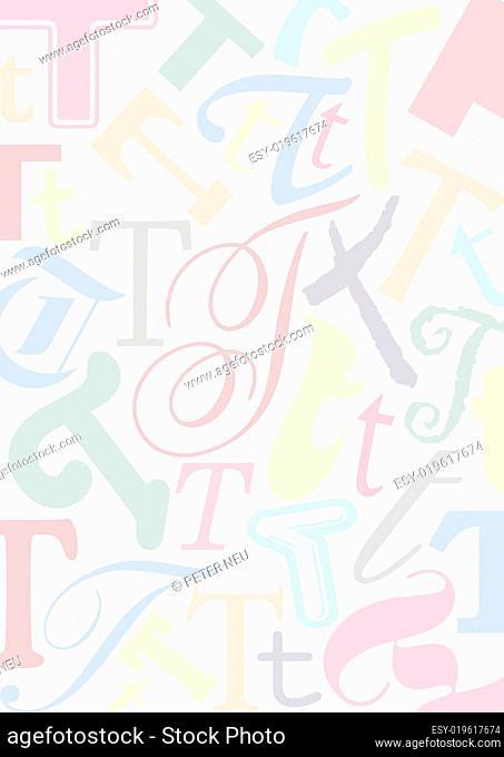 Hintergrund mit Buchstaben T
