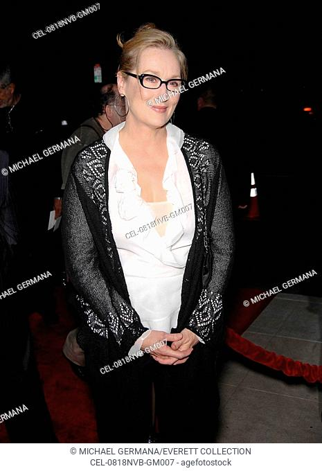 Meryl Streep at arrivals for DOUBT Premiere, Academy of Motion Picture Arts & Sciences (AMPAS), Los Angeles, CA, November 18, 2008