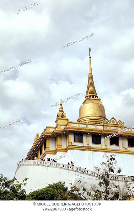 Golden Mount, Wat Saket Temple in Bangkok in Thailand