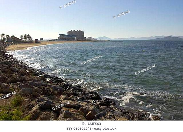 Mediterranean Beaches in La Manga, Spain