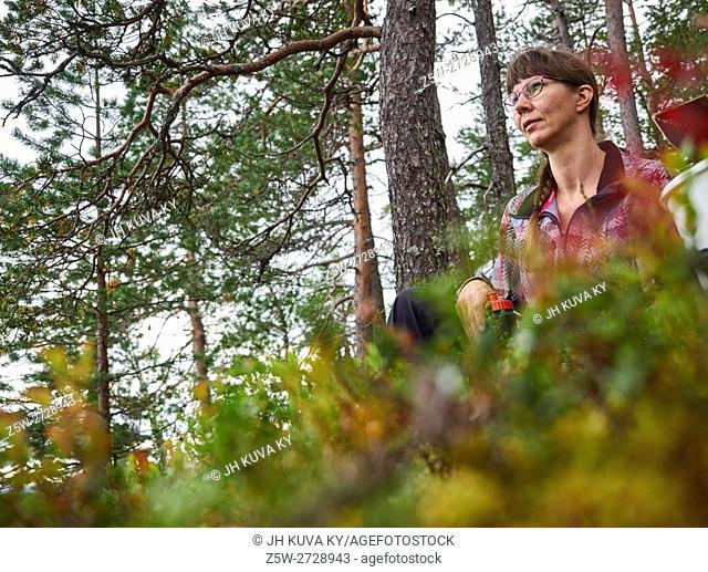 KUUSAMO, FINLAND: Pyhänjyssäys Hill and berry picking