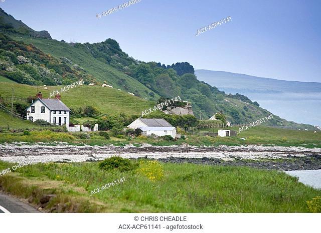 Seaside drive, Coast Road, County Antrim, Northern Ireland