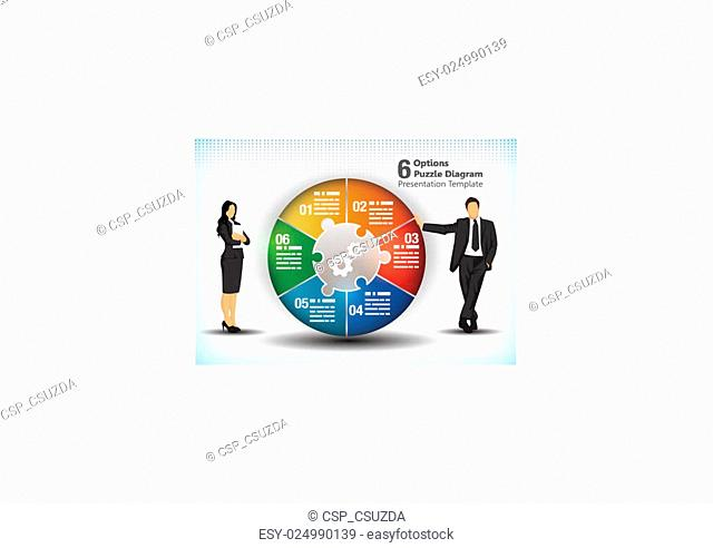 6 sided business wheelchart