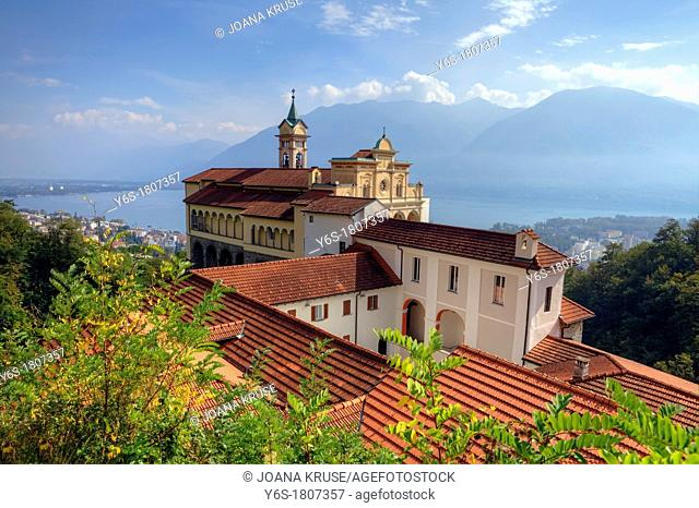 Sanctuary of Madonna del Sasso in Locarno, Ticino, Switzerland