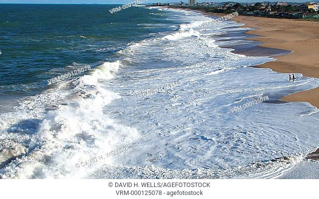 Ocean waves near Vitoria, Espirito Santo, Brazil