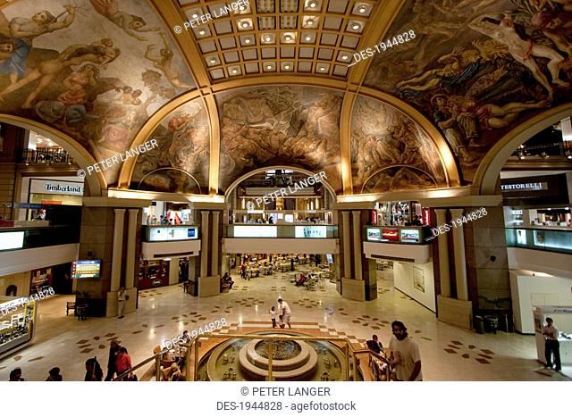 Murals in the Galerias Pacifico shopping mall, Buenos Aires, Argentina