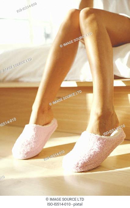 Clean shaven female legs