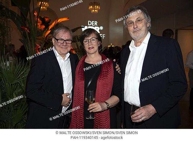 from left: Joachim KROL, actor, wife Heidrun TEUSNER-KROS, Michael SMEATON, producer, portrait, portraits, portrait, cropped single image, single motive