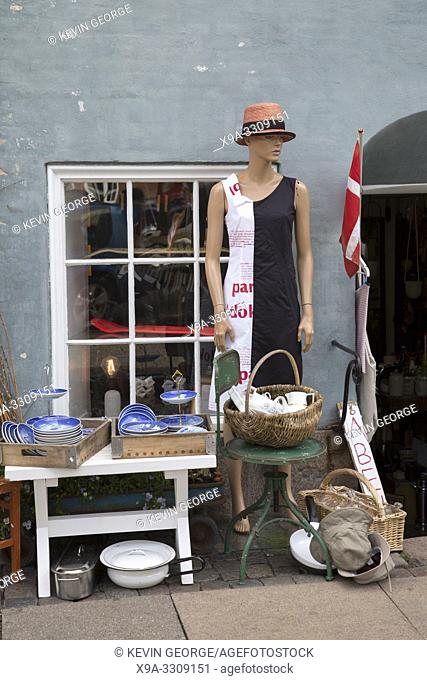 Second Hand Shop on Canal Quay, Christianshavn; Copenhagen; Denmark