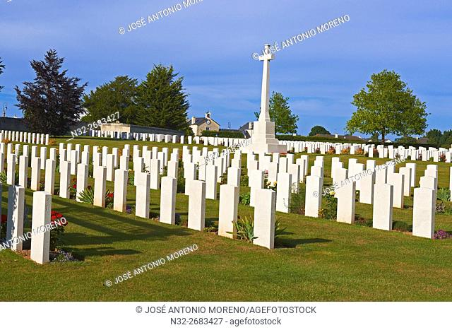 Second World Cemetery, Ranville, D-DAY Landing Site, British War Cemetery, Basse-Normandie. Calvados Department, Caen District, Normandy. France