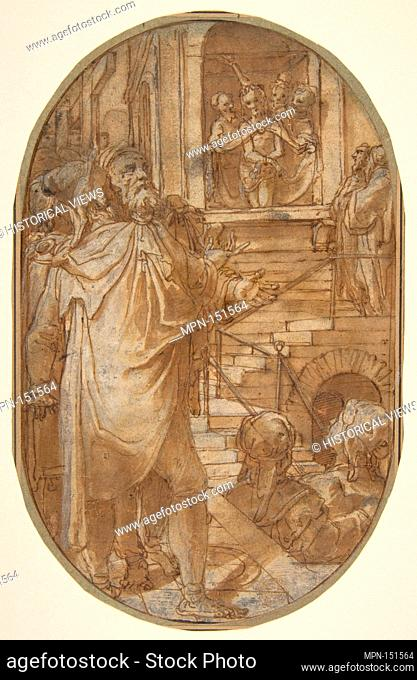 Ecce Homo. Artist: Federico Zuccaro (Zuccari) (Italian, Sant'Angelo in Vado 1540/42-1609 Ancona); Date: 1540/41-1609; Medium: Pen and brown ink