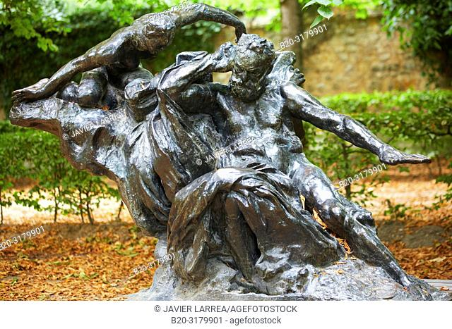 """""""""""""""Monument to Victor Hugo"""""""", sculpture by Auguste Rodin. Rodin Museum. Paris. France"""