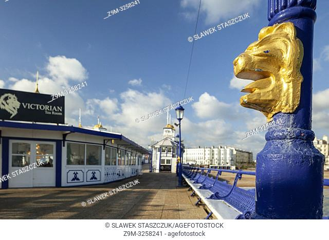 Winter afternoon on Eastbourne Pier in East Sussex, England